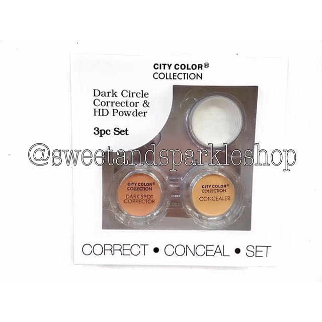 City Color Dark Circle, Corrector & HD Powder Set
