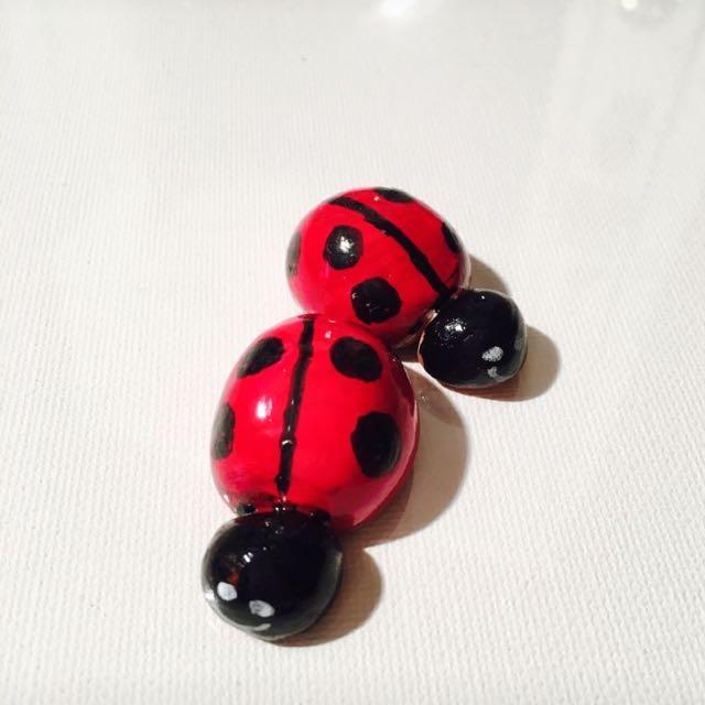 Clay Hand Made Ladybugs