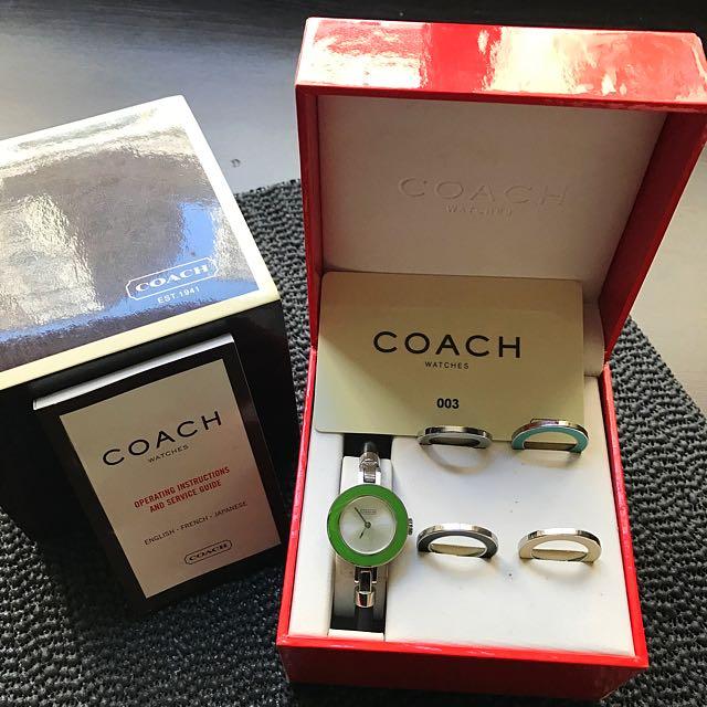 Coach可換錶面手錶