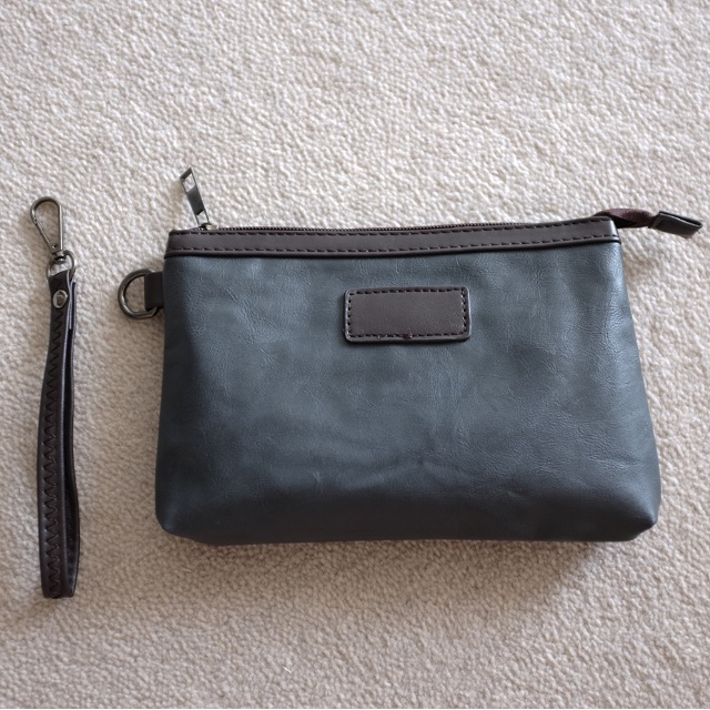 Coin Pouch Grey with Wrist Strap