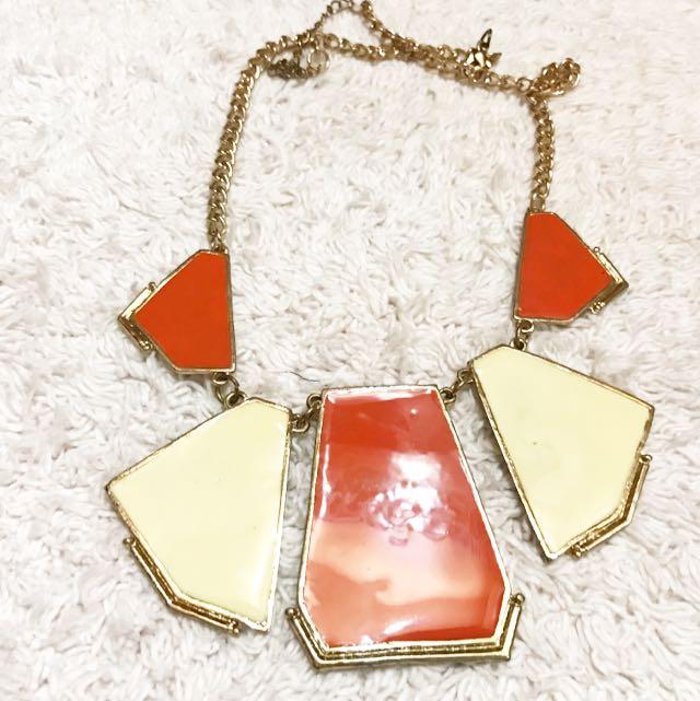 Orange Ivory Necklace