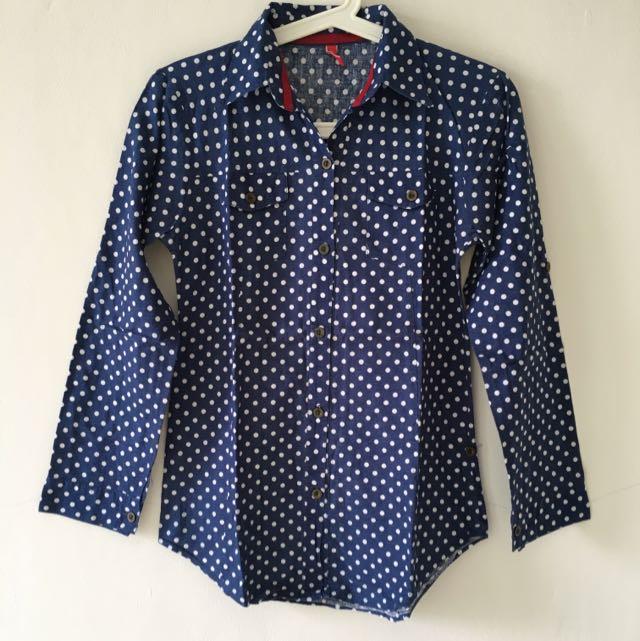 DENIM Polka Long shirt