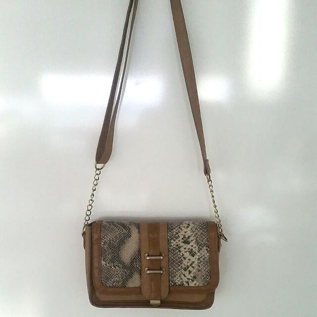 Dorothy Perkins Tan Sling Bag