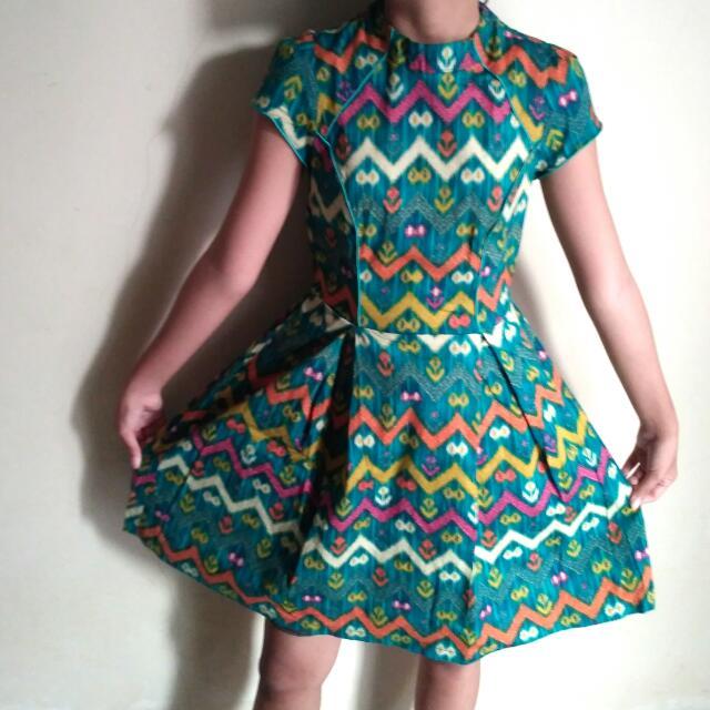 Dress Batik Bahan Stretch