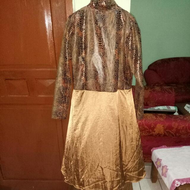 Dress, Long Bolero, Leather Bolero,