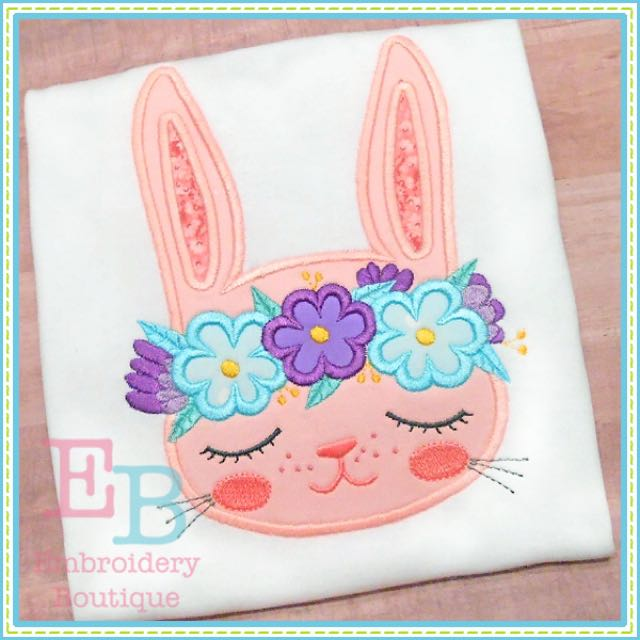 Easter Personalize Appliqué Embroidered Tee Shirt