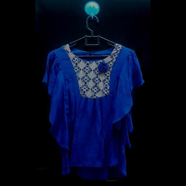 Ethnic Blue Blouse