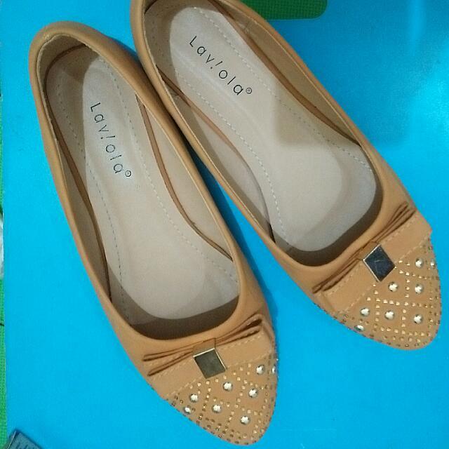 Flatshoes La Viola Ukuran 38
