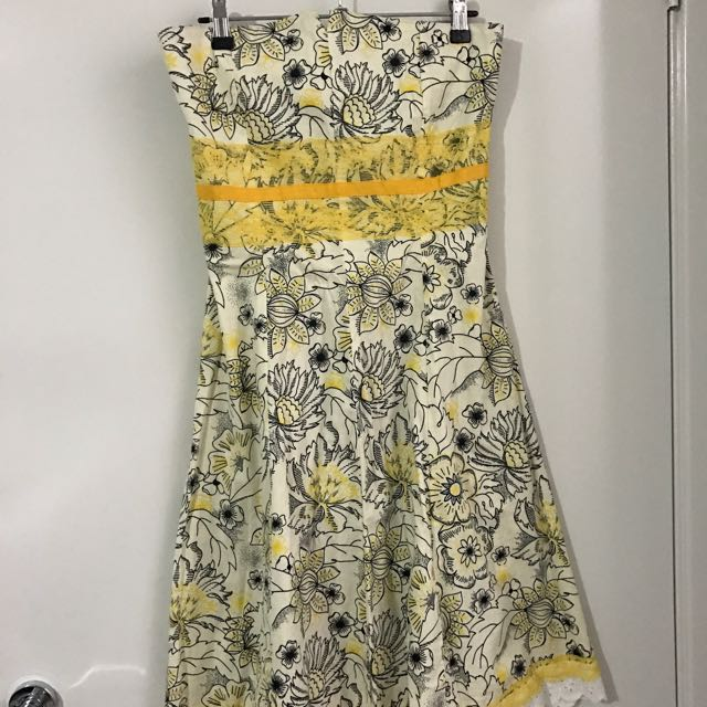 Floral Yellow Dress Sz8