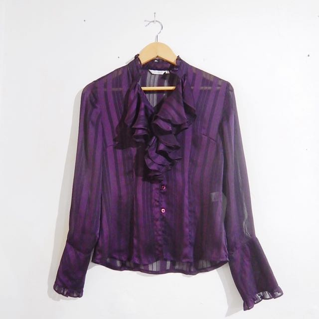 #FORWORK Accent Purple Long-sleeve Top