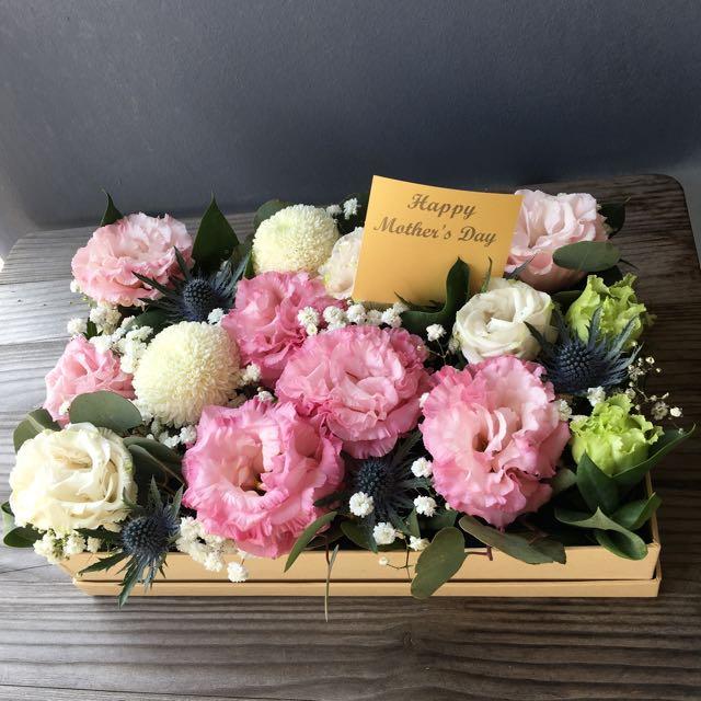 Fresh Flower Gift Box Table Arrangement Design Craft Handmade Craft On Carousell