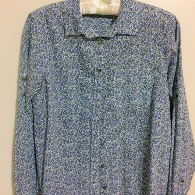 Gap Blue Floral Shirt