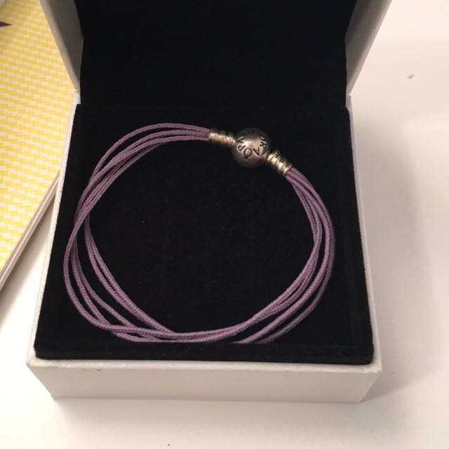 Genuine Pandora Bracelet In Purple