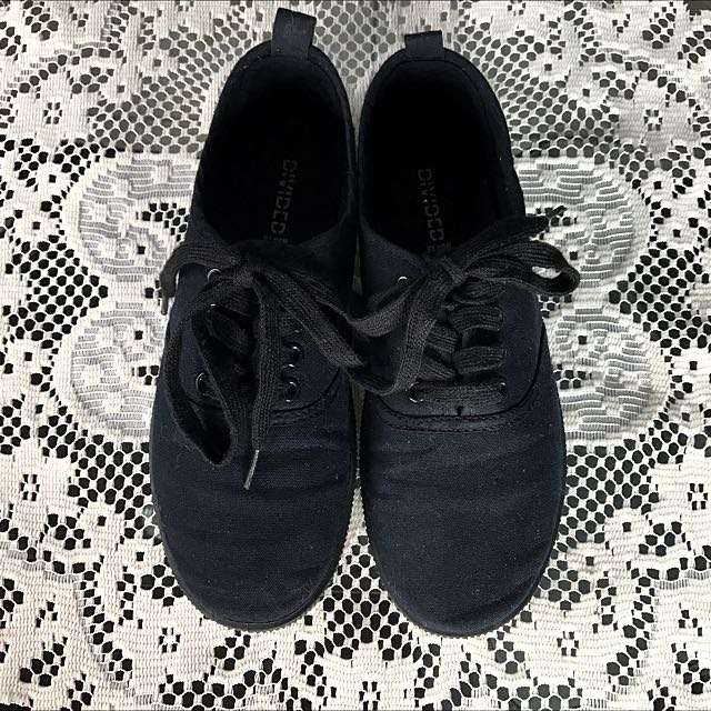 H&M Black Canvas Shoes