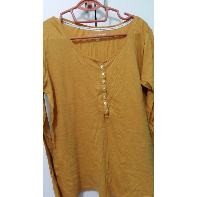 a214a550d47a9b H&M Mustard Yellow Top (L), Women's Fashion, Clothes, Tops on Carousell