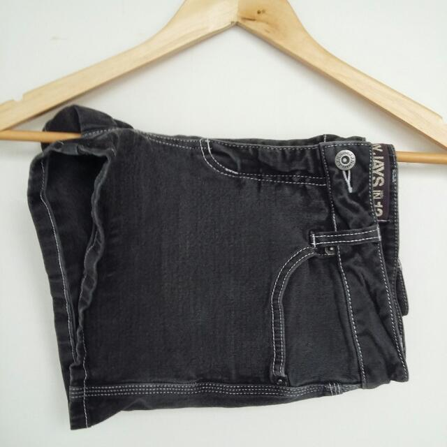 JayJays Black Denim Shorts- Size 12