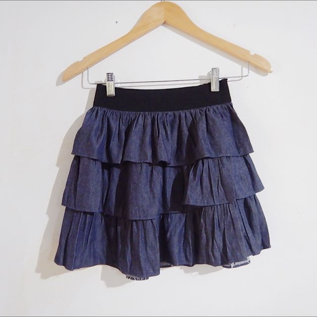 Jeans Layered Skirt