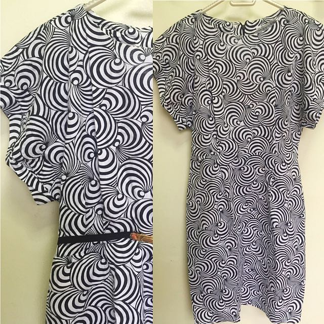 Kimono-inspired pencil cut BW dress