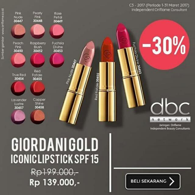 Lipstik Giordani Gold Iconic By Oriflame