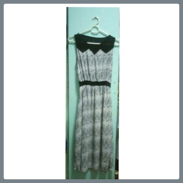 Maxi Dress (Black & White)