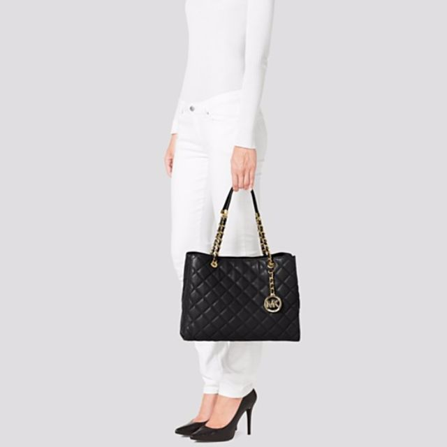 bc86aac1cdbd4d Michael Kors - Susannah Quilted Leather Large Tote on Carousell
