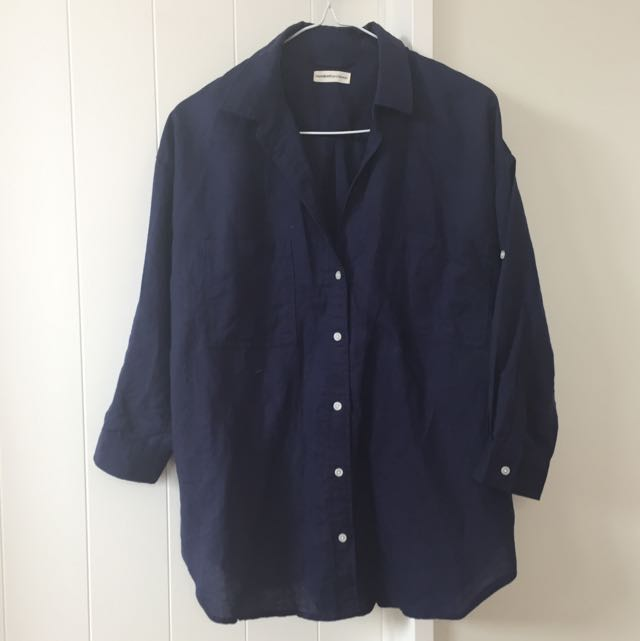 Mumokuteki: navy Shirt (S-M)