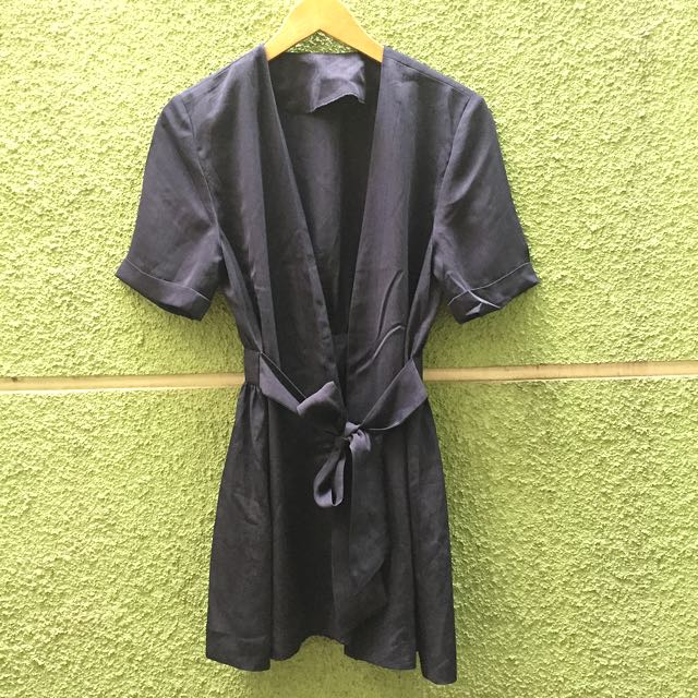 Navy Kimono Long Outer
