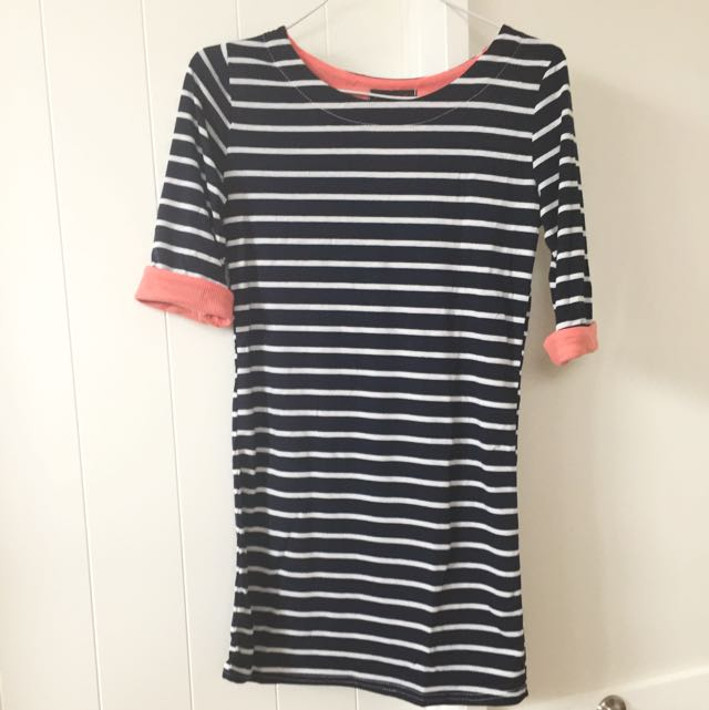 Navy Stripes With Pink Details