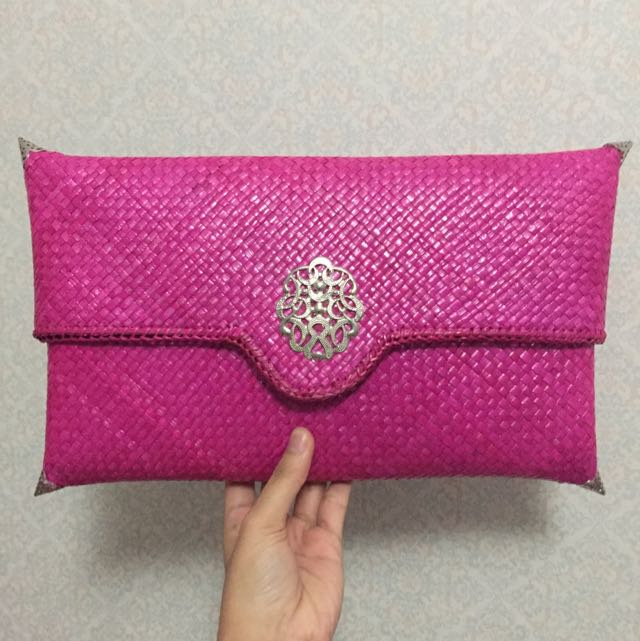 New Large Pink Clutch Anyam