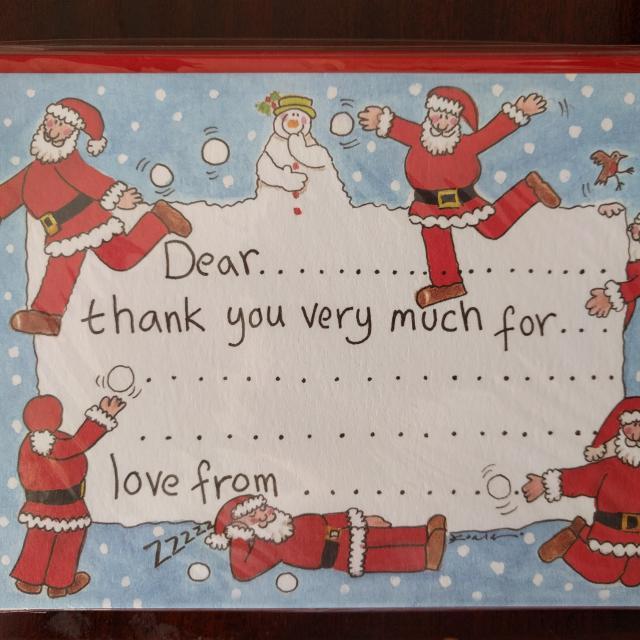 Phoenix Childrens Christmas Thankyou Postcards X 10 - 3 Packs Only