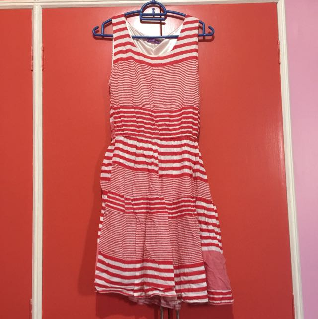 Popstar Red Striped Dress