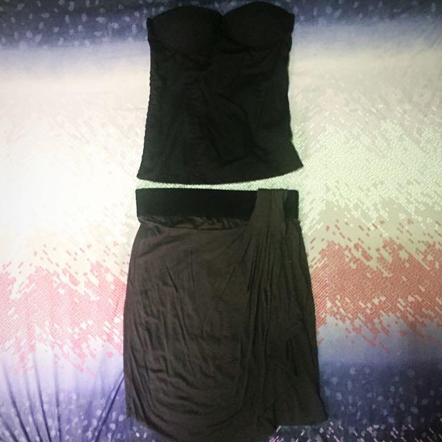 (Preloved) Zara Basic Grecian Gray Skirt
