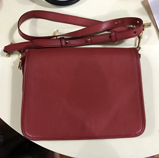 Rabeanco Leather Bag (orange red)