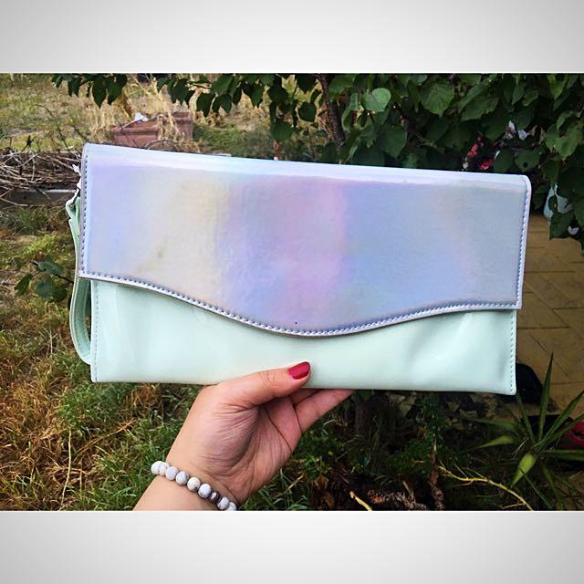Rainbow Metallic And Pastel Clutch ✨🦄✨