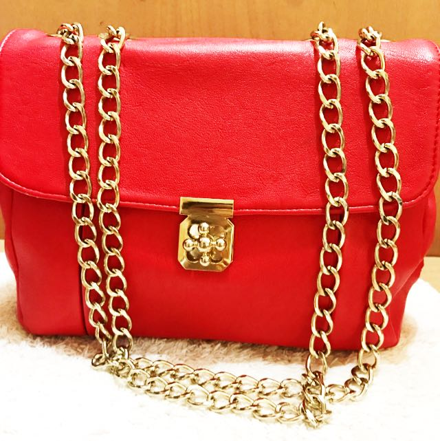 Red Classic Hand Bag