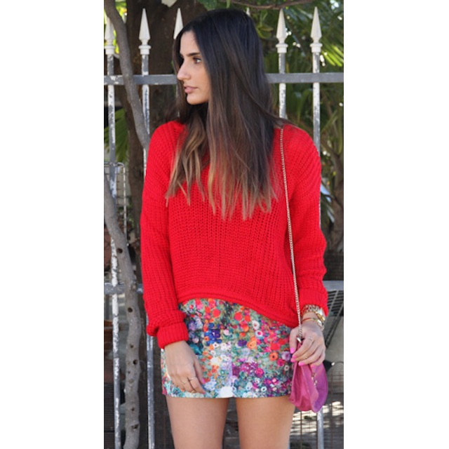 Sabo Skirt Red Jumper