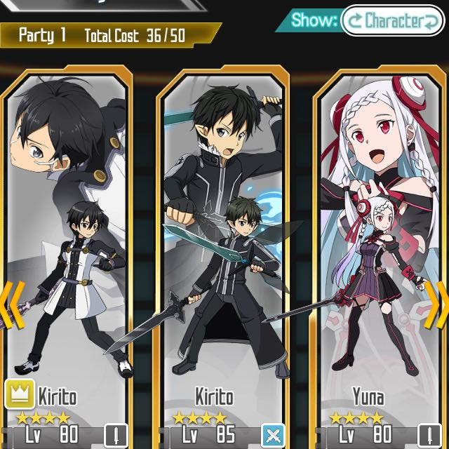 SAO Memory Defrag: Beater ALO Kirito, Toys & Games, Video Gaming, Gaming  Accessories on Carousell