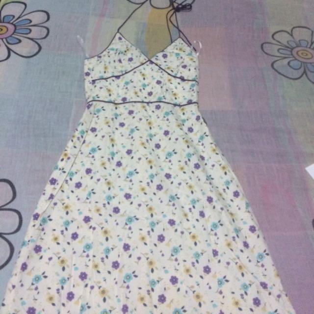 Details Trading Halter Dress
