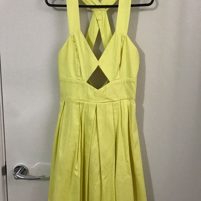 Sunshine Yellow Cutout Dress Sz8
