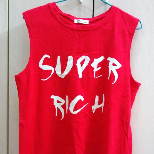 Super Rich 紅色背心