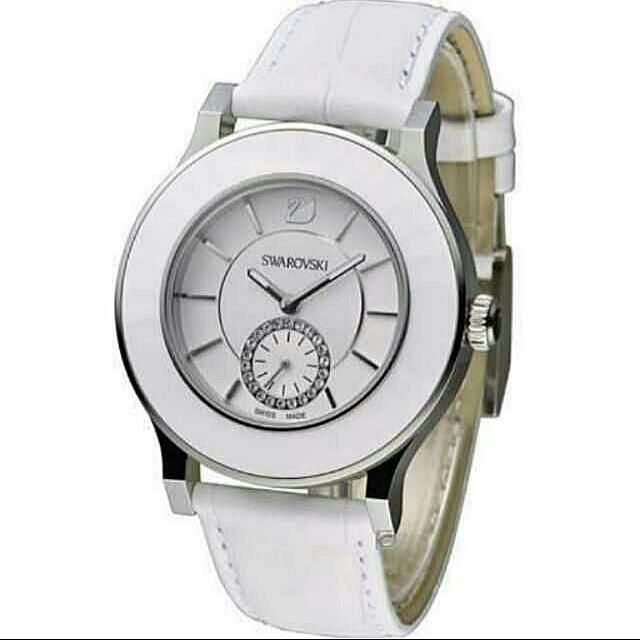 【SWAROVSKI】Octea Classica 經典優雅時尚小秒針腕錶-白 1181757  免運
