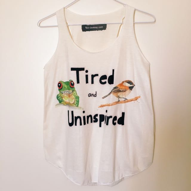 Tired And Uninspired Singlet Size S