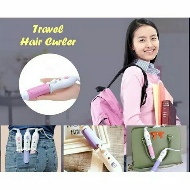 Travel Hair Curler Catokan Mini Curly Rambit Keriting Salon Top