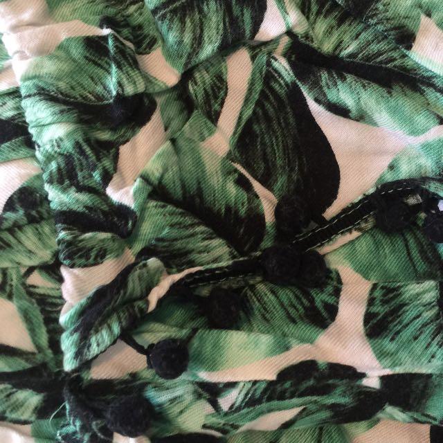 Tropical Print Pom Pom Tulip Shorts