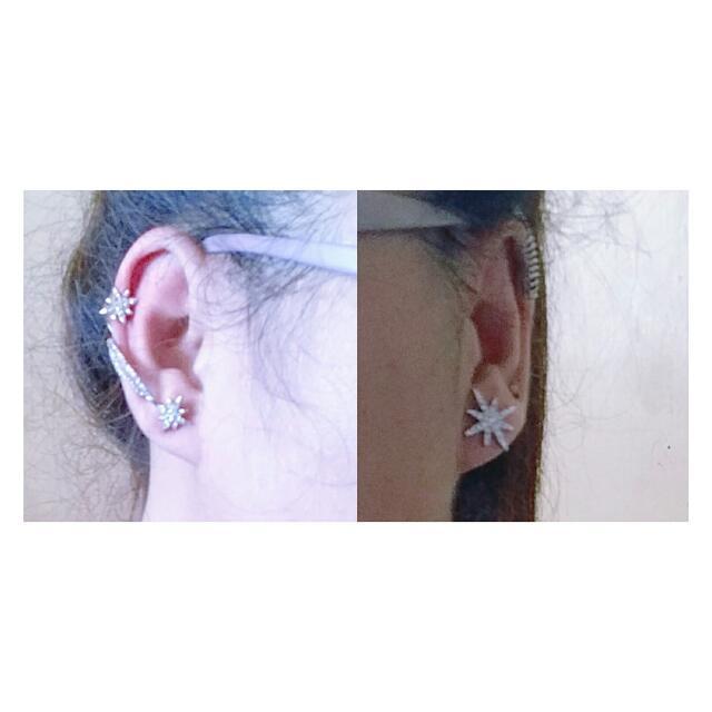 Twinkle Star Ear Cuff Earrings