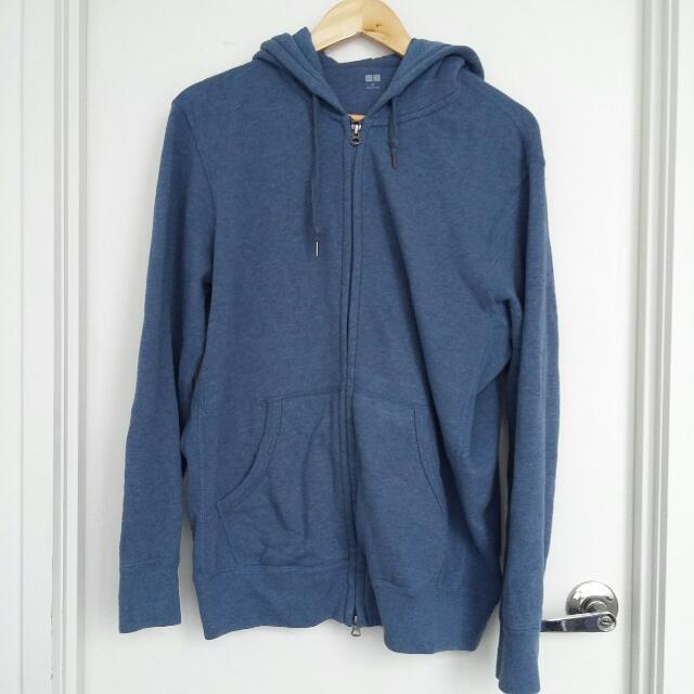 UNIQLO Blue Hoodie- Size XL