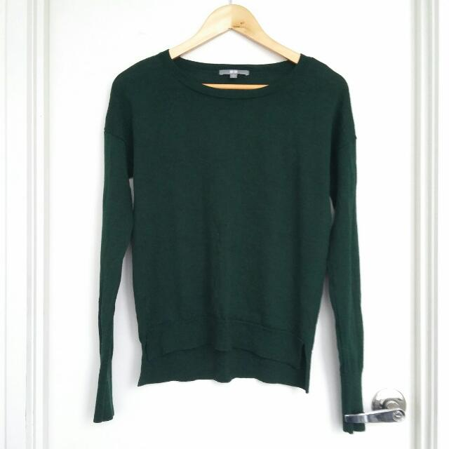 UNIQLO Emerald Green Wool Sweater- Size S