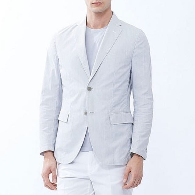 UNIQLO Lightweight Seersucker Jacket Size Large