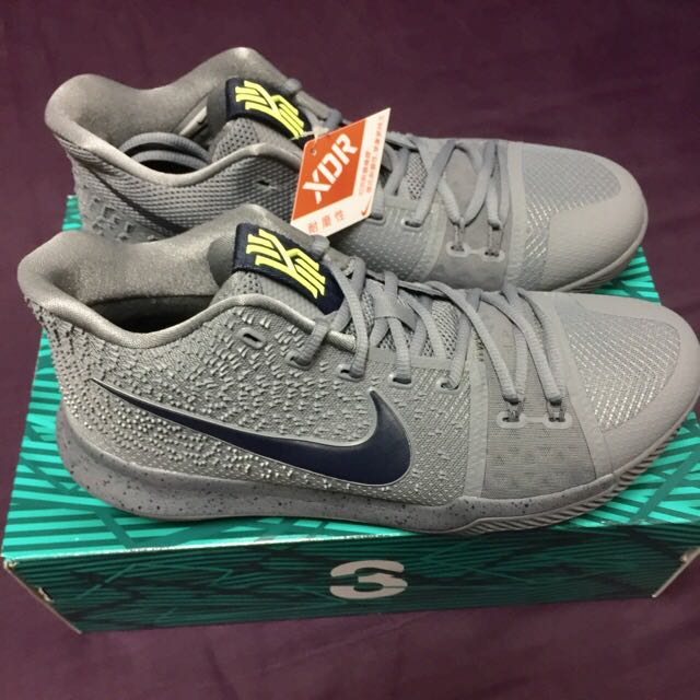 "US10 NIKE KYRIE 3 ""酷灰 籃球鞋"