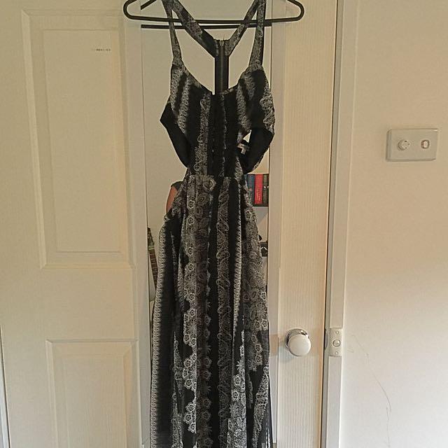 Valleygirl Size 10 Cutout Maxi Dress